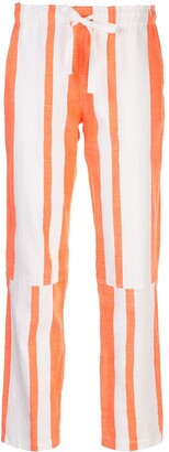 Lemlem Zoya striped drawstring trousers