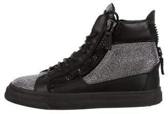 Giuseppe Zanotti Leather Embellished Sneakers