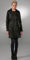 Thelonious Leather Trench Coat