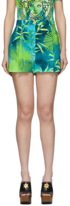 Versace Green Jungle Print Shorts