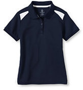 Lands' End Girls Colorblock Active Polo-Classic Navy