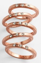 Carole Stone Crystal Stackable Rings (Set of 5)