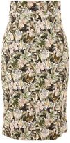 Topshop Floral print pencil skirt