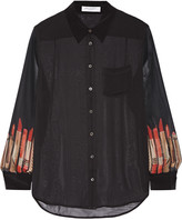 Equipment Reese printed silk-chiffon shirt