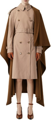Burberry Trench Coat with Attached Cashmere Blanket