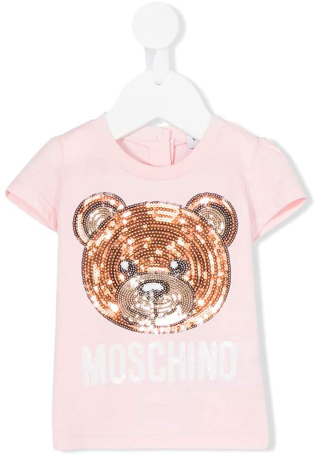 Moschino Kids sequin bear T-shirt