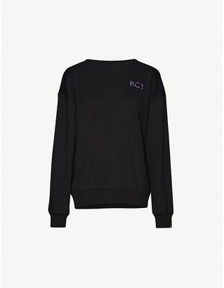 Boy London Thunder logo-print cotton-jersey jumper
