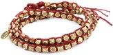 M.Cohen Handmade Designs M. Cohen Handmade Designs Large Brass Beads on Waxed Cord Triple Wrap Bracelet