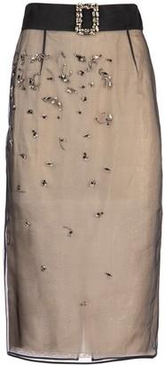 Prada Crystal Embellished Belted Midi Skirt