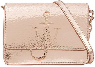 J.W.Anderson Logo Metallic Cracked-leather Shoulder Bag