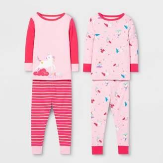 Cat & Jack Toddler Girls' Unicorn Pajama Set Pink