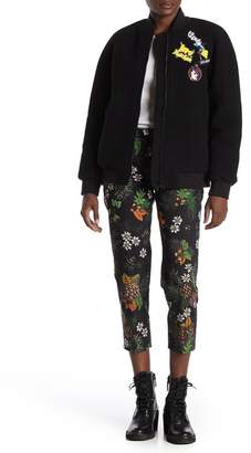 Love Moschino Cropped Allover Print Trousers