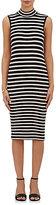 ATM Anthony Thomas Melillo Women's Striped Rib-Knit Midi-Dress