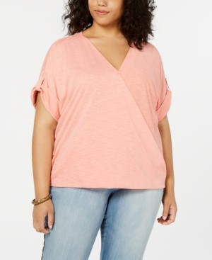 Seven7 Jeans Trendy Plus Size Crossover Top
