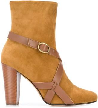 Michel Vivien Buckle Strap Ankle Boots
