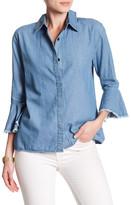 Maac London Moss Bell Sleeve Denim Shirt