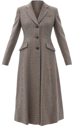 Prada Prince-of-wales Checked Wool-blend Coat - Multi