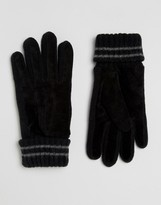 Esprit Suede Knit Gloves