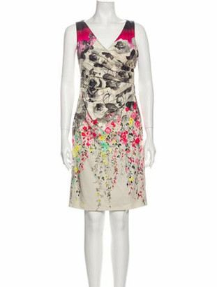 Valentino Floral Print Knee-Length Dress
