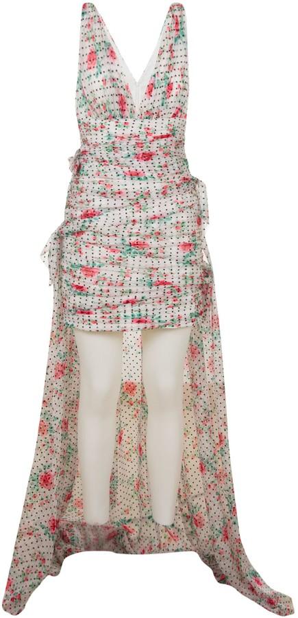Philosophy di Lorenzo Serafini V-neck Floral Print Sleeveless Dress