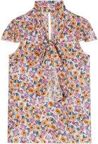 Summer Flowers Silk Top