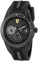 Ferrari Men's 0830259 REDREV T Analog Display Quartz Black Watch