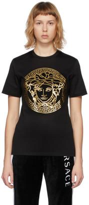 Versace SSENSE Exclusive Black Metallic Medusa T-Shirt
