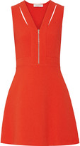 Sandro Relax cutout stretch-piqué dress