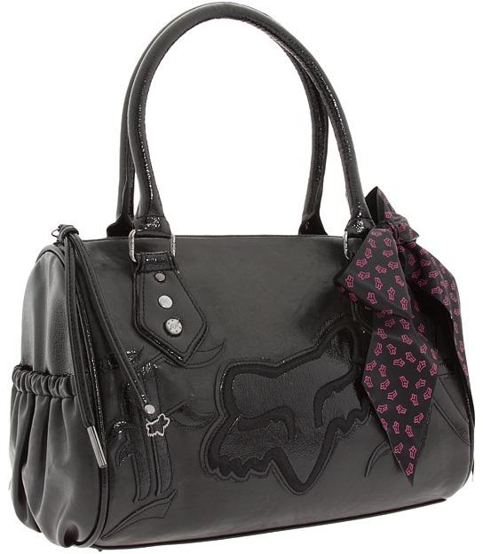 Fox Born Free Duffel Handbag (Black/Gunmetal) - Bags and Luggage