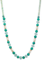 lonna & lilly Gold-Tone Beaded Long Statement Necklace