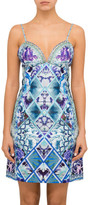 Camilla The Blue Market V Neck Fitted Dress