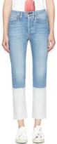 Ports 1961 Blue Colorblock Jeans
