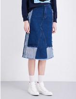 Ground Zero Patchwork boyfriend denim skirt