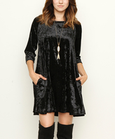 Black Velvet A-Line Tunic
