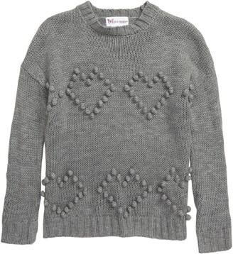 Cotton Emporium High/Low Heart Sweater