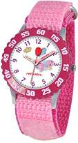 Red Bubble Red-Bubble Watch W002056-Girls-educational, Pink Quartz White Dial Strap-Nylon