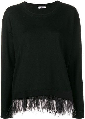 P.A.R.O.S.H. contrast trim knitted top