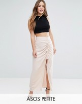 Asos Maxi Skirt in Twill With Channel Detail