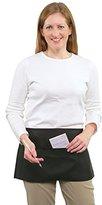 3 Pocket Waist Apron - 100% Poly, Black