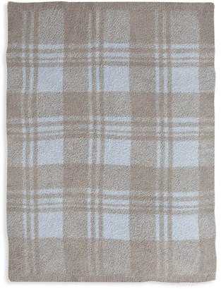 Barefoot Dreams CozyChic Plaid Stroller Blanket