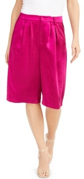 INC International Concepts Inc Satin Gaucho Pants, Created for Macy's