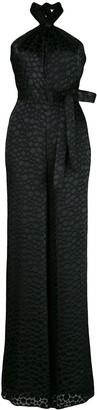 Alexis Amary croc-effect burnout jumpsuit