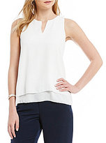 Daniel Cremieux Skylar V-Neck Double Layer Georgette Blouse