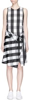Rag & Bone 'Brighton' check tie waist wrap skirt dress