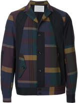 Kolor plaid bomber jacket
