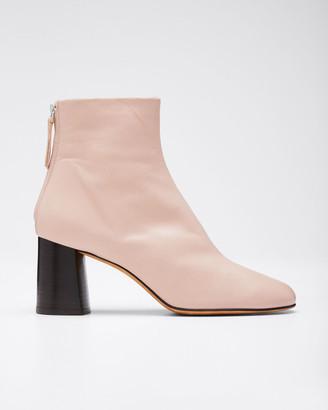 3.1 Phillip Lim Nadia Leather Zip Booties, Blush