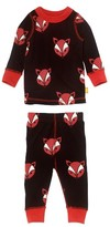 Infant Boy's Masalababy Fox Organic Cotton Fitted Two-Piece Pajamas