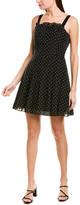 Rebecca Taylor Swiss Dot A-Line Dress