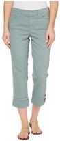 NYDJ Dayla Wide Cuff Capris in Calypso Women's Jeans