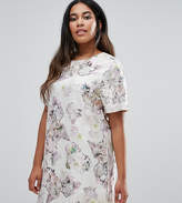 Truly You Floral Jacquard Short Sleeve Shift Dress